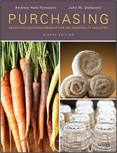 Purchasing Selection And Procurement For The Hospitality Industry 8th Edition Pdf Version Hospitality Industry Cookery Books Procurement
