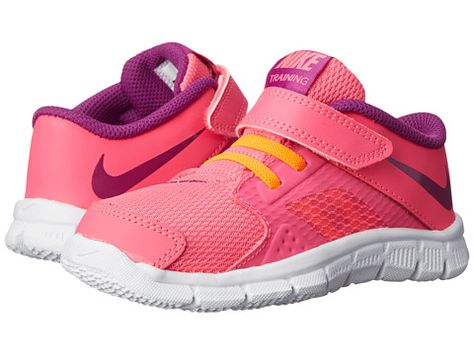 quality design 7a4ed 6160b Nike Kids Flex Supreme TR 3 (Infant Toddler) Pink Pow Total  Orange White Bold Berry