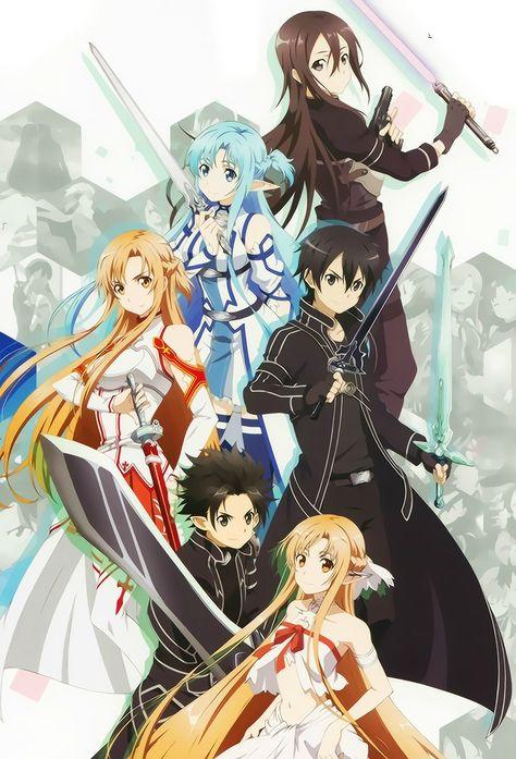 Sword Art Online, Kirito + Asuna, official art