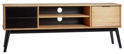 meuble tv ethnique lucia noir et bois