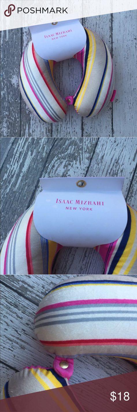 Isaac Mizrahi Memory Foam Travel Pillow