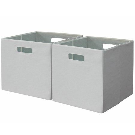 802775bcdcb25cba01ce48430a4fd09a - Better Homes And Gardens Fabric Storage Bin Gray