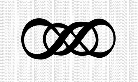 Double infinity tattoo from Revenge I want this to cover my old tatoo.