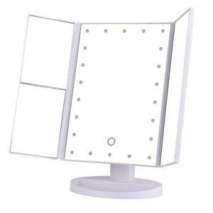 3 Folding Makeup Mirror With 22 Led Light Vanity Touch Screen