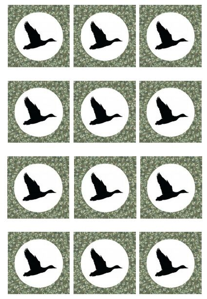 Spanish Town 2014 Inspiration - Duck Dynasty Birthday Party cupcake toppers {Free Printables}