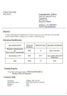 academic qualification in resume