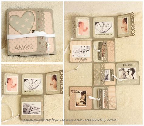 Mini álbum fold scrapbooking 'Sweet Baby'