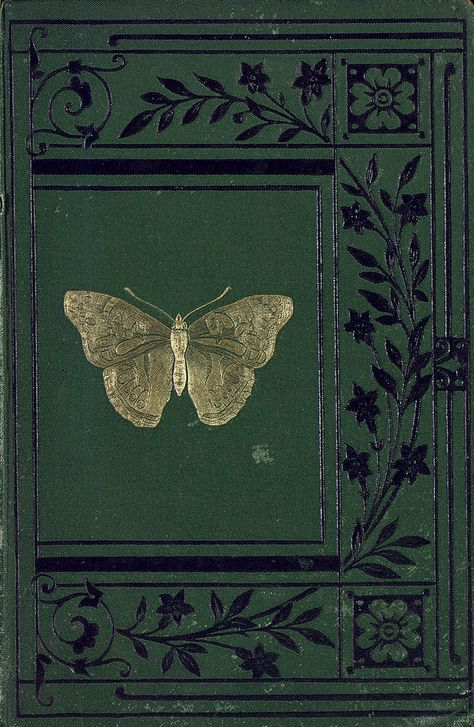 Sketches of British Insects, Love golden butterfly on this vintage book cover. Vintage Book Covers, Vintage Books, Book Cover Art, Book Art, Book Design, Cover Design, Dark Green Aesthetic, Arte Fashion, Jugendstil Design