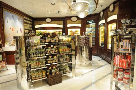 Shop duty-free in the elegant boutiques, voted
