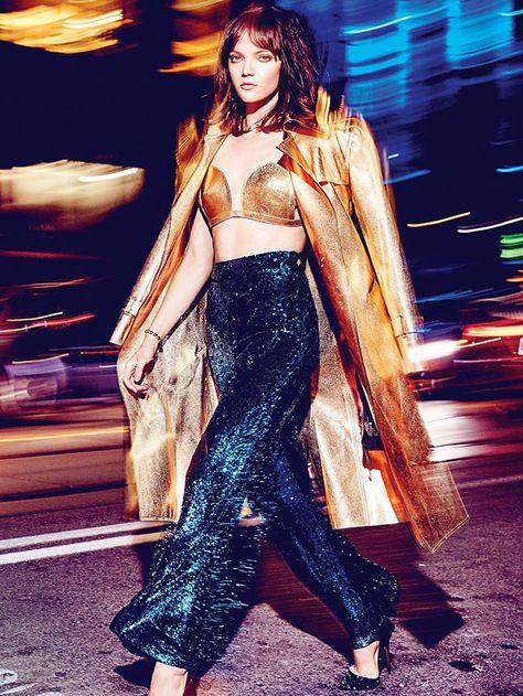 Elle Canada December 2015 Friday Night Lights Fashion Direction by Juliana Schiavinatto Makeup & Hair by Sabrina Rinaldi Photography by Max Abadian Model: Jenna Earle, Next Models