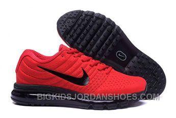 Authentic Nike Air Max 2017 Red Black Black Lastest HZnWW in