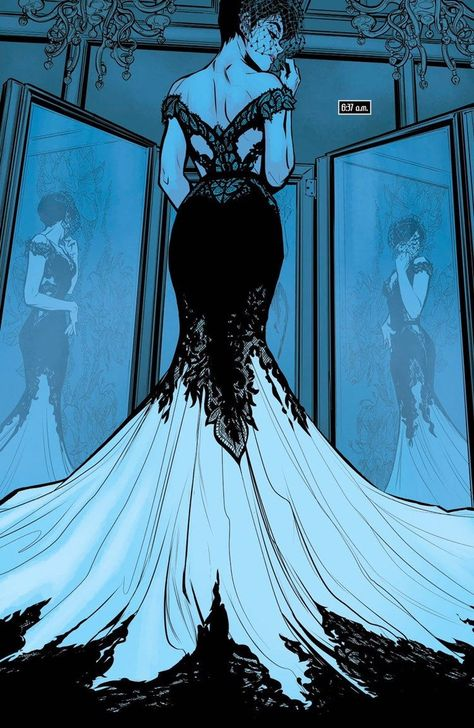 I guess it makes sense that Catwoman would want to get a wedding gown on her own terms. I imagine Batman was awake and just let it go. Probably paying the store anonymously for the gown and all the damages. From – Batman Vol. Catwoman Cosplay, Catwoman Comic, Batman And Catwoman, Catwoman Makeup, Batman Girl, Batman Batman, Batman Stuff, Character Outfits, Character Art