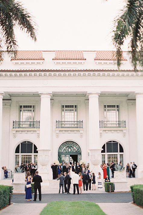 An outdoor reception at the Henry Morrison Flagler Museum | @katbraman | Brides.com