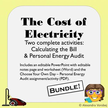 The Cost of Electricity - Bundle - Lesson & Activity