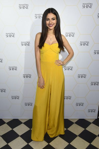 Victoria Justice attends the PANDORA Jewelry Shine Collection Launch in NYC.