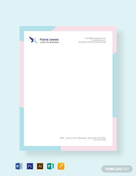 Instantly Download Free Personal Letterhead Template Sample Example In Microsoft Free Letterhead Template Word Letterhead Template Letterhead Template Word