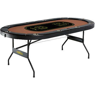 Barrington 10 Player Poker Table No Assembly Required Portable Foldable Poker Table Poker Casino