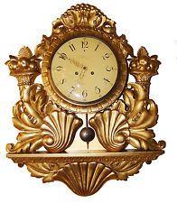 101d87196900 Красивые lenzkirch Германия позолота резной деревянный картель настенные  часы 1901