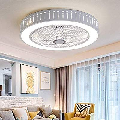 Amazon Com Ganeep Led Round Modern Ceiling Fan Lights Dining Room Bedroom Livin Amazoncom In 2020 Modern Ceiling Fan Dining Room Lighting Dining Room Ceiling Fan