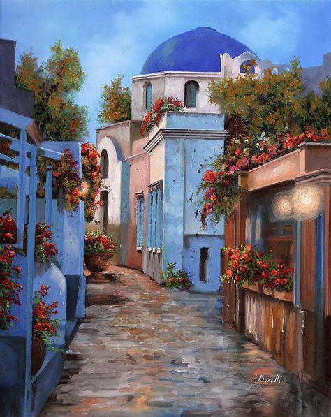 Mattina In Grecia Art Print by Guido Borelli