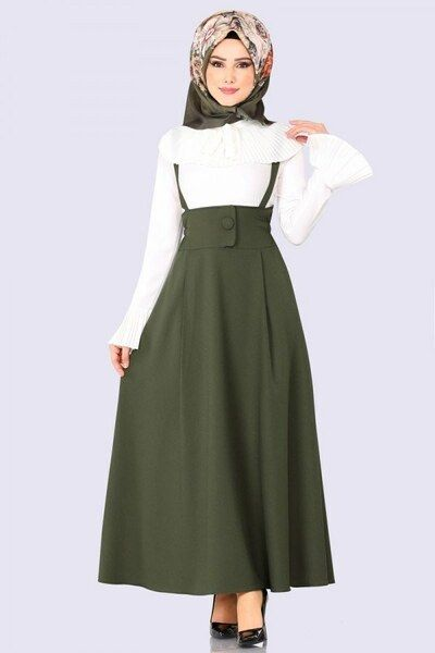 Modaselvim Elbise Salopet Jile Msm054 Haki Summer Dress Outfits Muslim Fashion Outfits Stylish Dresses For Girls