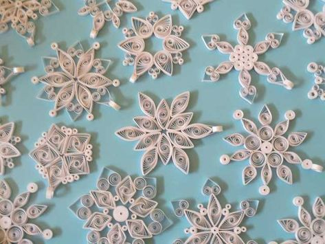 Quilled Snowflakes - Imgur
