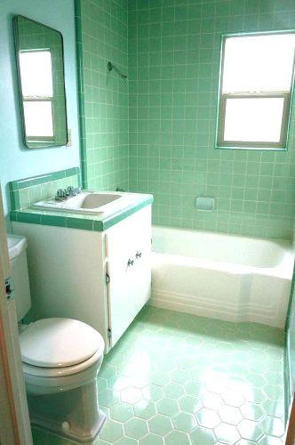 1950s Bathroom Sink Antique Vintage Retro Bathrooms Green