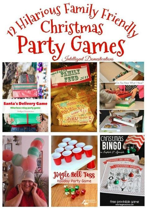 12 Hilarious Christmas Party Games Fun Christmas Party Games Christmas Party Activities Family Friendly Christmas Party