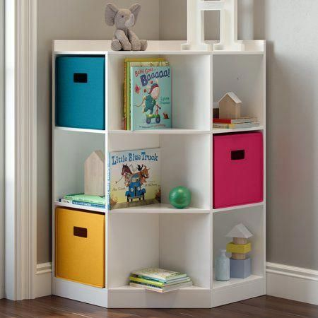 Riverridge Kids 6 Cubby 3 Shelf Corner Cabinet White Walmart Com Kidsbedroom Kids Room Organization Kids Room Design Storage Furniture Bedroom