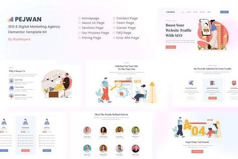 Pejwan — SEO & Digital Marketing Agency Template Kit   Stylelib