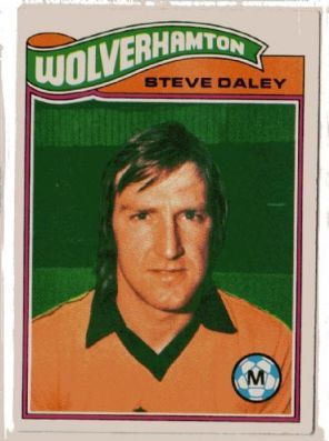 STEVE DALEY TOPPS-FOOTBALL ORANGE BACK 1978 -#016- WOLVES