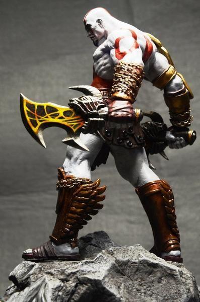 God Of War 3 Kratos Statue Collection Beeshop Kratos Desenho Figura De Acao God Of War