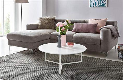 Affiliatelink Finebuy Design Couchtisch White 80 Cm Rund