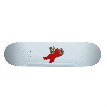Flying Penguin Cartoon Skateboard Kids Kid Child Gift Idea Diy