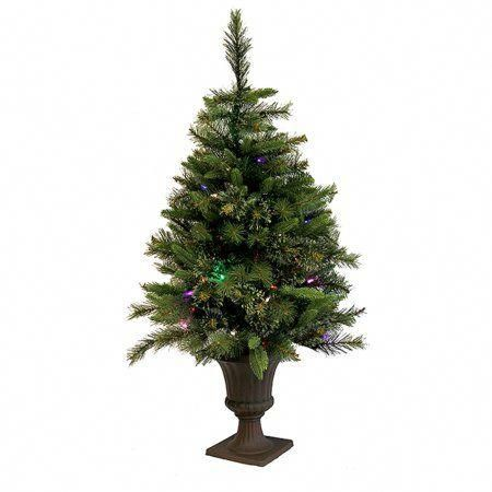 3 5 Pre Lit Battery Operated Cashmere Potted Christmas Tree Multi Led Lights Walmart Com In 2020 Slim Artificial Christmas Trees Potted Christmas Trees Artificial Christmas Tree