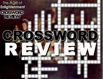Age Of Enlightenment Crossword Puzzle Social Studies Lesson