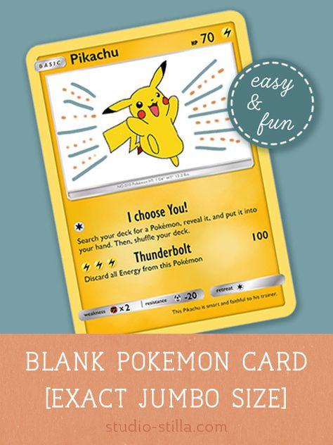 Pokemon Card Template Make Your Own Pokemon Card Printable Pdf Pokemon Card Template Pokemon Diy Make Your Own Pokemon