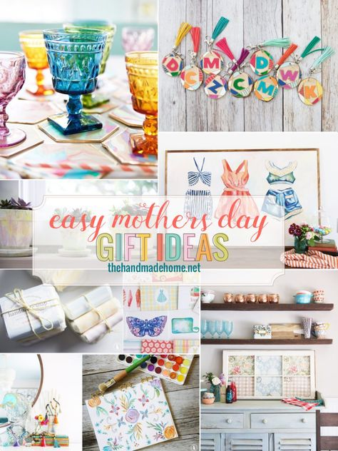 easy mother's day gift ideas -- why not get a head start on Mom's gift!  create something from the heart!  #MothersDay #MomsDay #MumsDay #MothersDayGiftIdeas #DIYMotherDayGifts