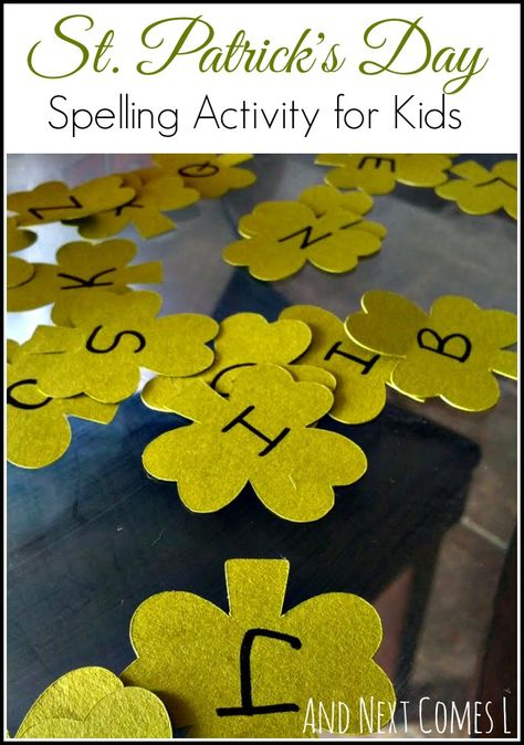 St. Patricks' Day spelling activity for kids from And Next Comes L