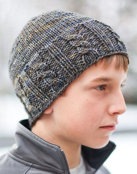 Free Knitting Pattern For Fisher Cable Hat Mens Hat Knitting Pattern Hat Knitting Patterns Knitted Hats