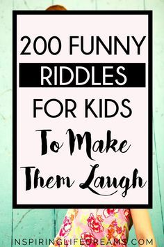 If you're looking for the BEST collection of riddles for kids, here are riddles for kids that your kids will absolutely LOVE! Kids Riddles With Answers, Best Riddles For Kids, Quizzes For Kids, Jokes And Riddles, Funny Jokes For Kids, Brain Riddles, Riddles Kids, Word Riddles, Funny Puns