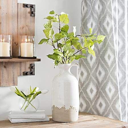 White Crackle Ceramic Vase With Handle Vase Ceramic Vase Vases