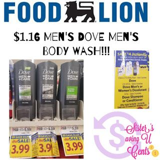Sisterssavingucents 1 16 Dove Men S Body Wash At Food Lion