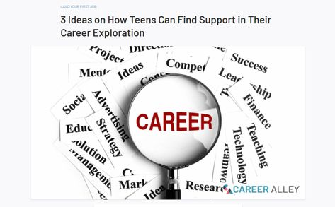 3 Ideas on How Teens Can Find Support in Their Career Exploration
