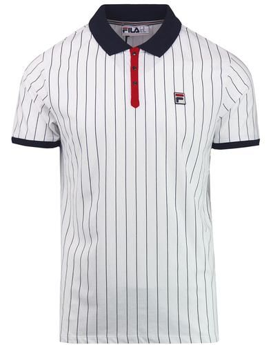 BB1 FILA VINTAGE Retro Borg Tennis Polo Top W/N/R | Fashion ...