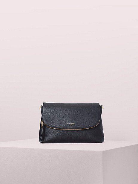 8fec82061 Kate Spade Sylvia Perforated Medium Dome Crossbody, Black in 2019    Products   Handbag accessories, Kate spade, Bags