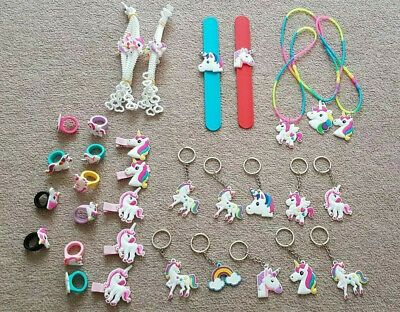 12 Pack Little Girls Birthday Party Bag Favour Fillers Pink Jewellery Necklaces
