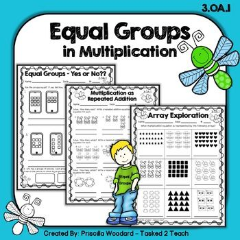 These Print And Go Practice Pages Will Assist Your Scholars In Learning And Developing A Foundational Understanding Of Mul Equal Groups Multiplication Teaching Equal groups worksheets 3rd grade