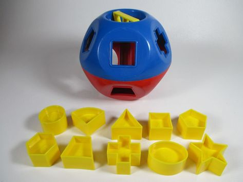 Blue//Red Tupperware Shape-O Toy Ball