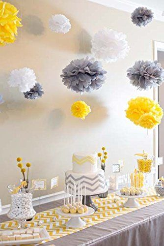Home Furuix You Are My Sunshine Party Decoration Yellow Grey